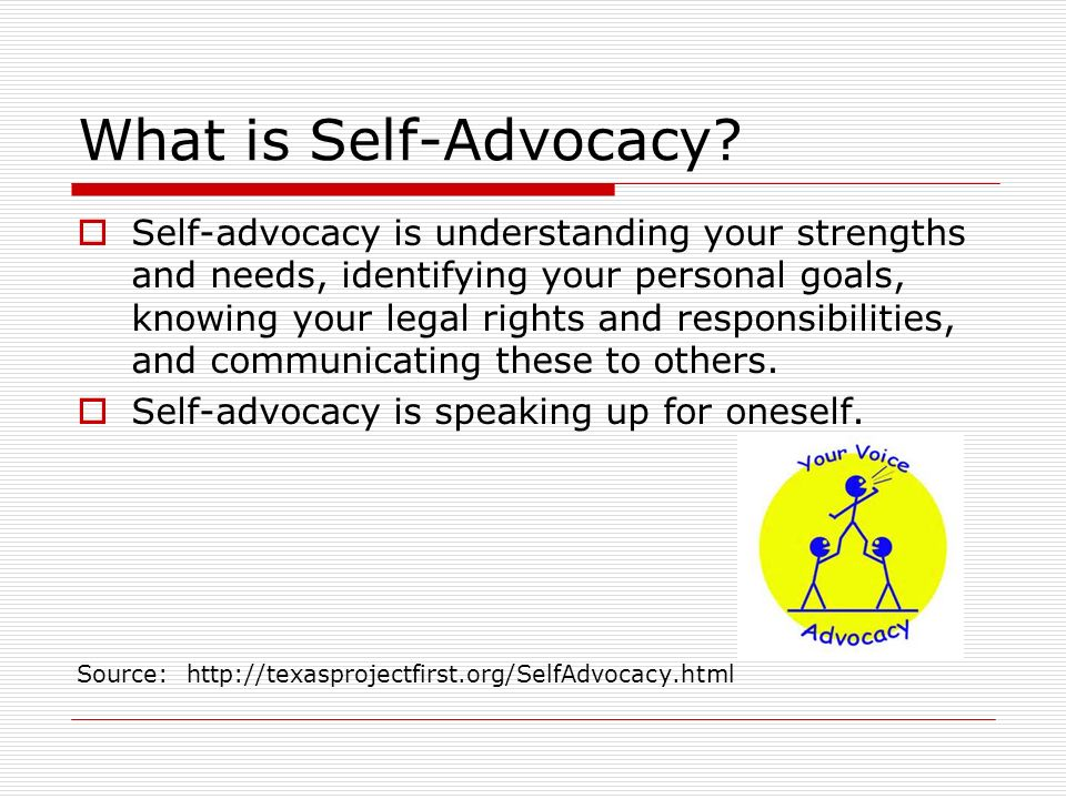 advocacy skills Self-advocacy skills: a portfolio approach by cathryn s krebs, tvi, fairfax, va  reprinted with permission from heldref publications re:view.