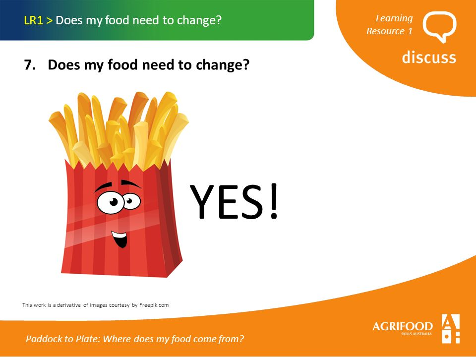1. Food for thought… LR1 > Does my food need to change? - ppt download