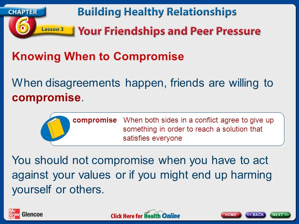 Knowing When to Compromise