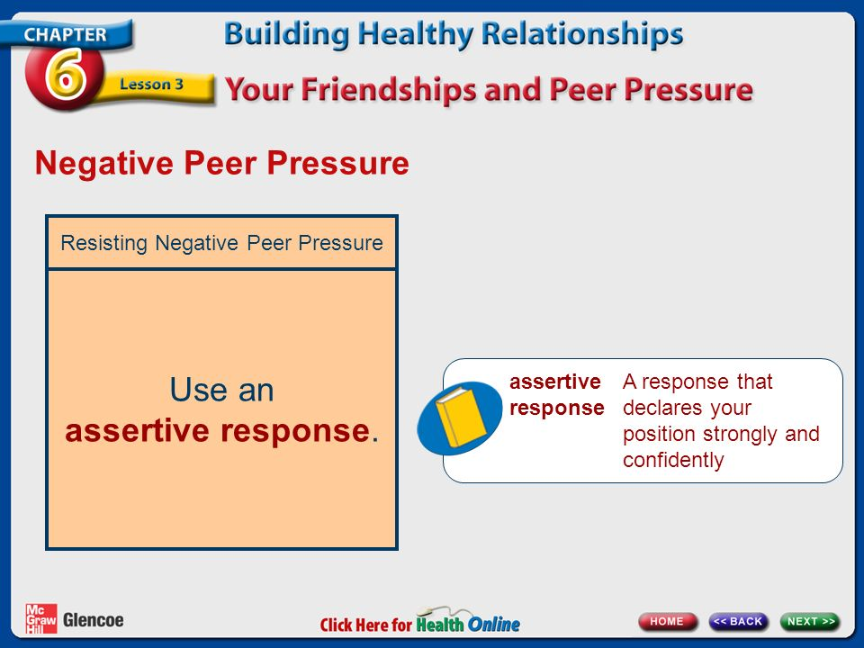Negative Peer Pressure