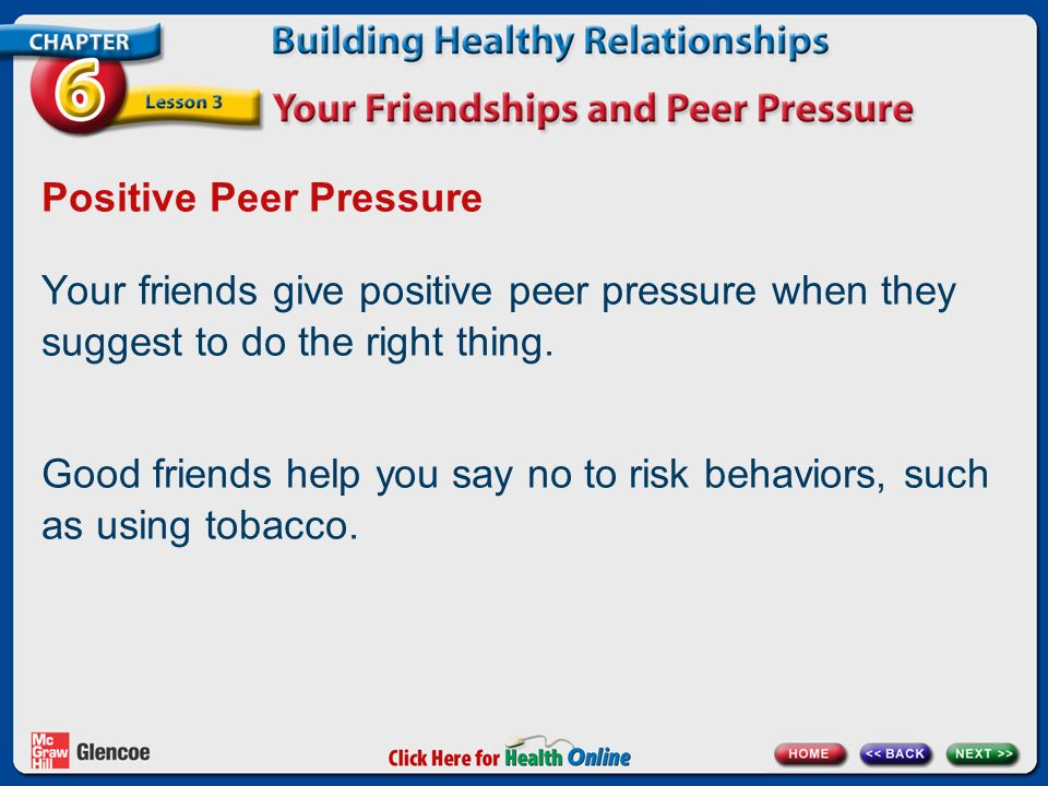 using positive peer pressure essay Some of the causes of peer pressure include parental neglect, fear of being ridiculed and low self esteem  what is positive peer pressure.