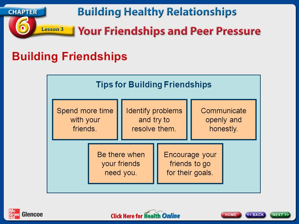 Tips for Building Friendships