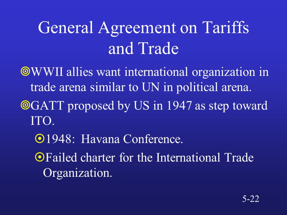 General Agreement On Tariffs And Trade Gatt