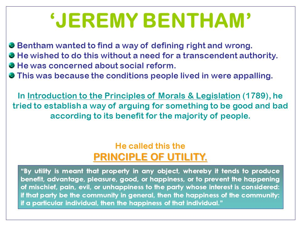 a discussion on quantitative utilitarianism by jeremy bentham Hands of jeremy bentham (1748-1832), the founder of the british utilitarian  school  nevertheless, it is advisable to discuss various implications of the term   politics scientifically verifiable disciplines by formulating quantitative  standards of.