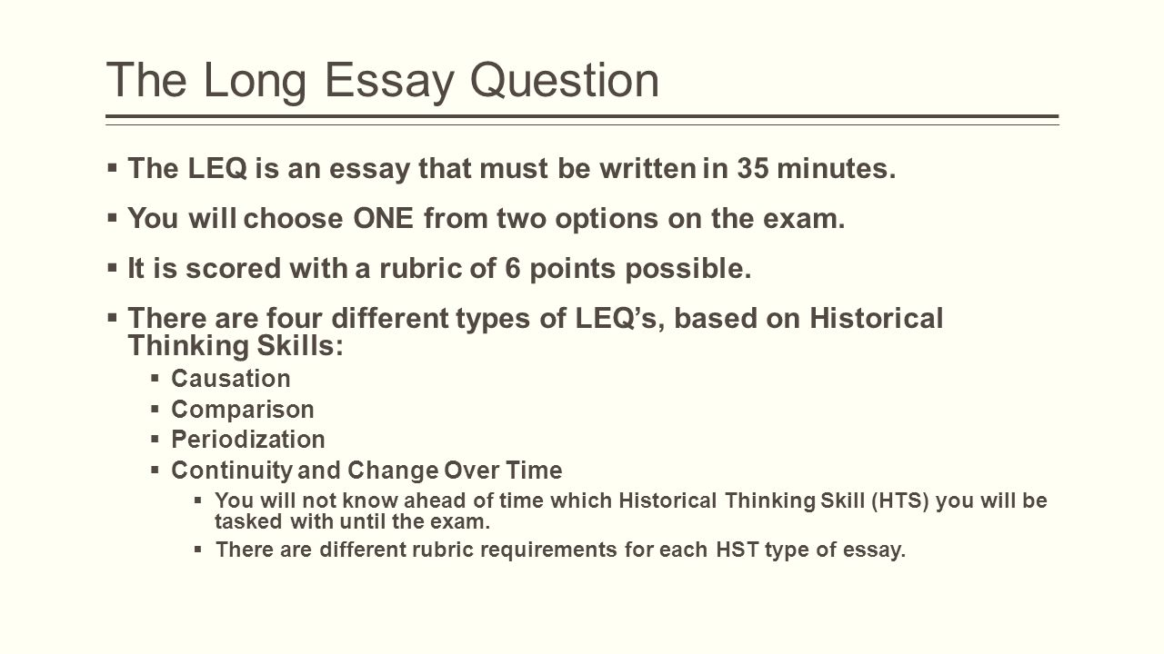 old ap world history essay questions Ap students who cody belcher 2/8/2010 world history document- based question 2006 even sential content for ap united states history is the heart of the textbook.