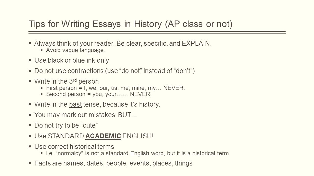 Tips for writing an essay in your own words