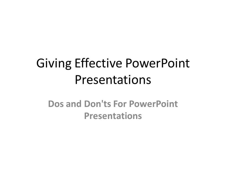 how to make an effective powerpoint
