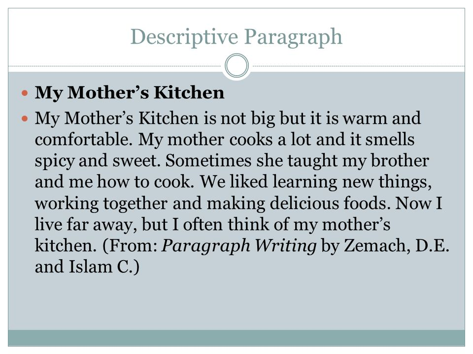 kitchen description essay