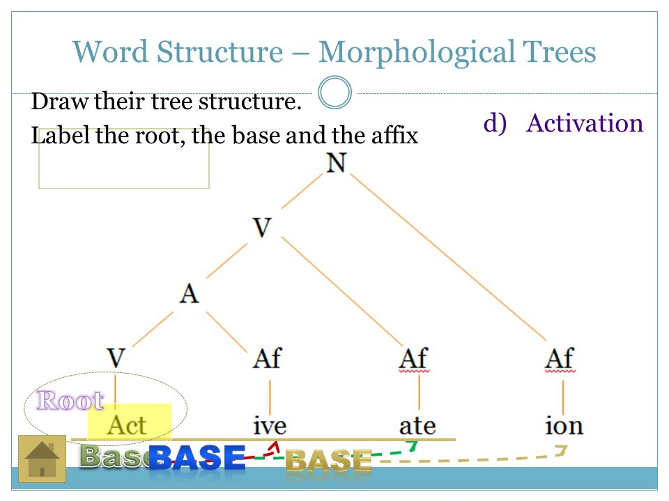 List of Synonyms and Antonyms of the Word: Morphological Tree