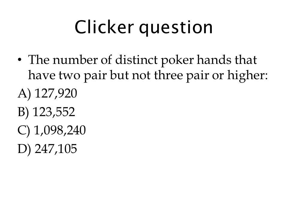 Poker hands three pairs