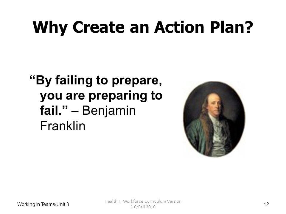 how to create an action plan