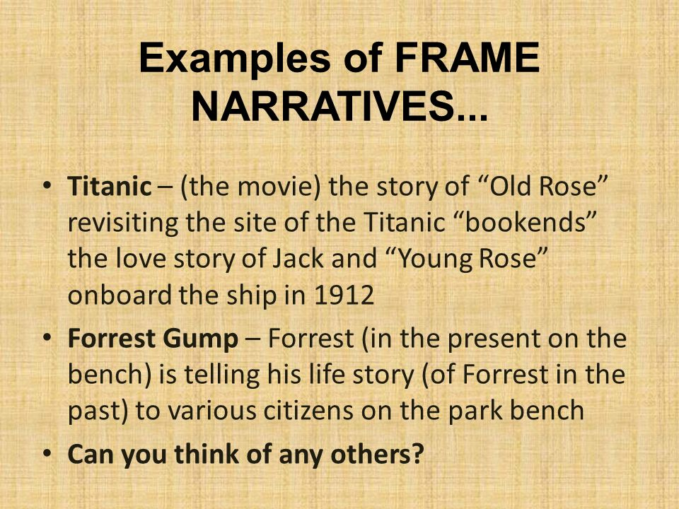 Narrative story examples