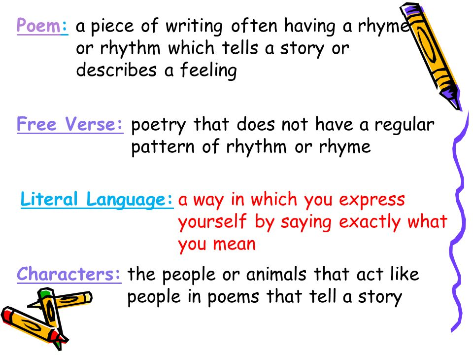 How to write a poem in free verse