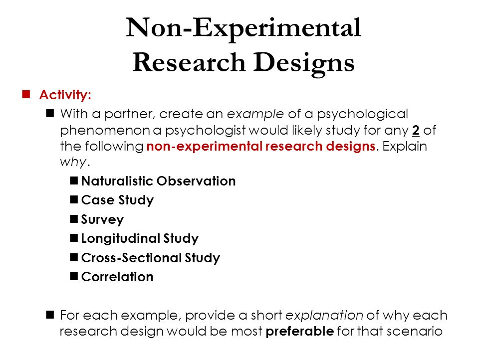 an analysis of the design of a psychological experiment Honorable mentions: psychological research on the net is a fantastic meta-list of online psychology experiments most experiments disappear once the researchers meet their requirements (or they.