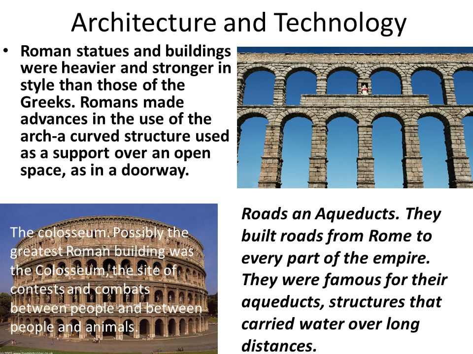 the technological advances in the roman empire Technological history of the roman across many areas of roman influence and supplement the empire this included the military advances that the.