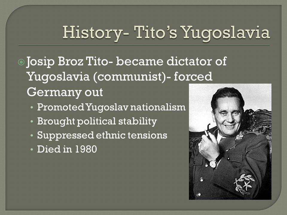 post war yugoslavia and josip tito essay Yugoslavia: new war by the great communist heretic marshal josip broz tito muslim national assertiveness that in the post-tito period provoked an.