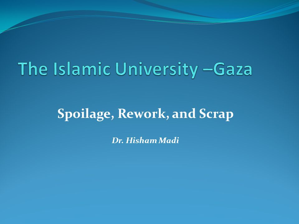 Learning Activity #5: Spoilage, Rework, & Scrap Discussion Academic Essay