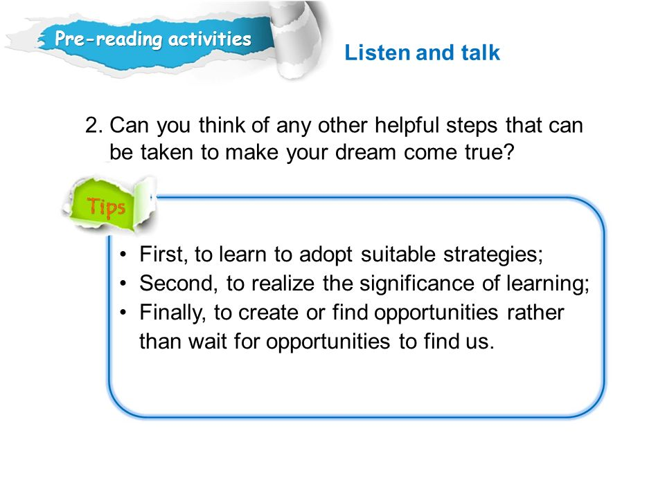 2. Can you think of any other helpful steps that can
