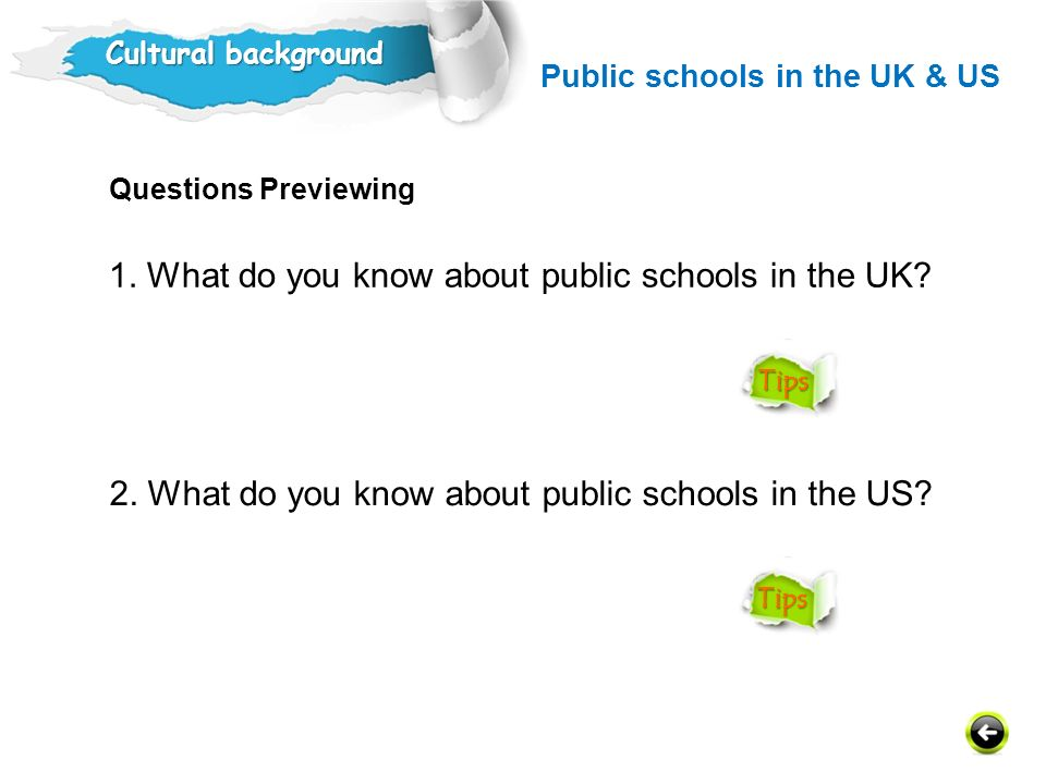 1. What do you know about public schools in the UK