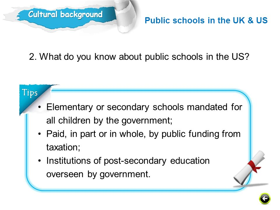 2. What do you know about public schools in the US