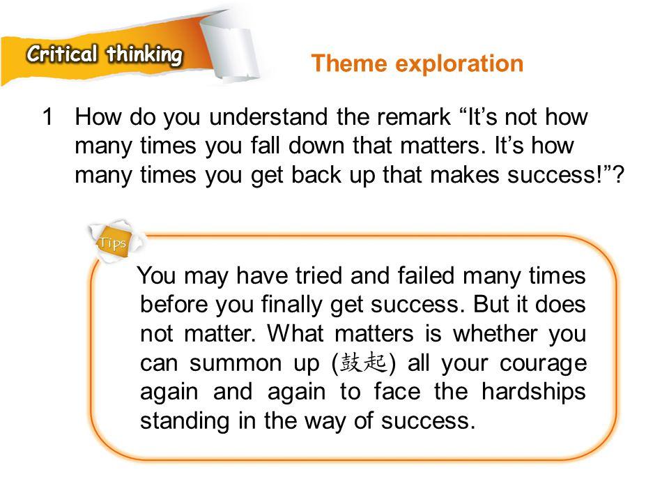 Critical thinking Theme exploration.