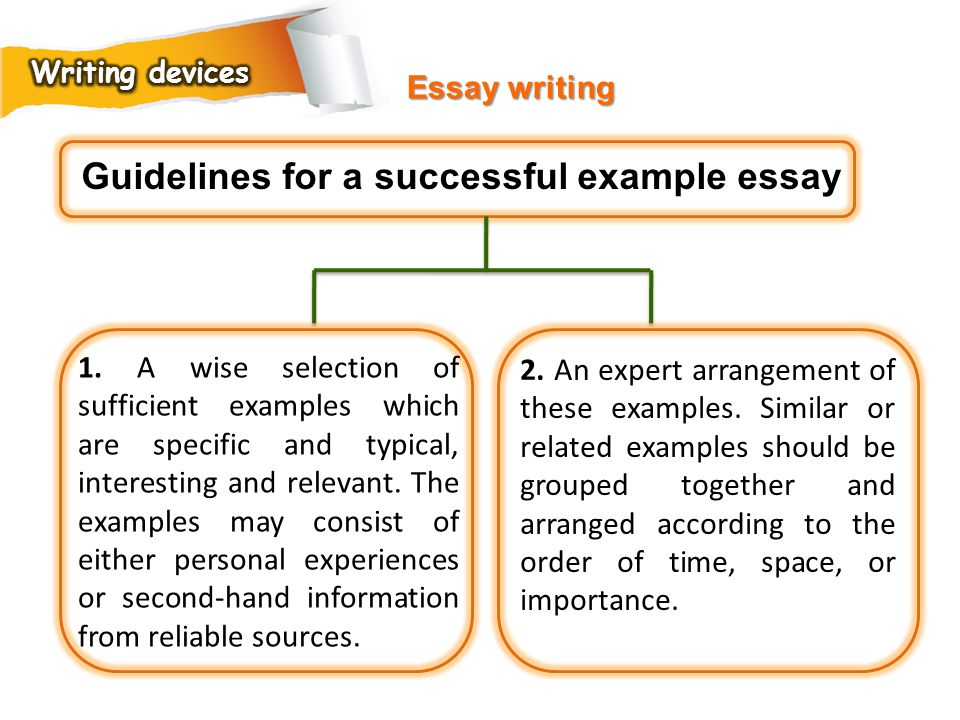 Guidelines for a successful example essay