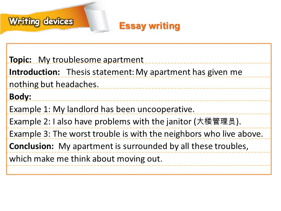 Topic: My troublesome apartment
