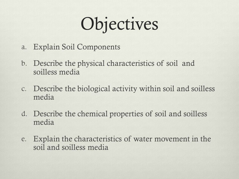 Plant and soil science standard 4 objective 2 ppt download for Physical and chemical properties of soil wikipedia