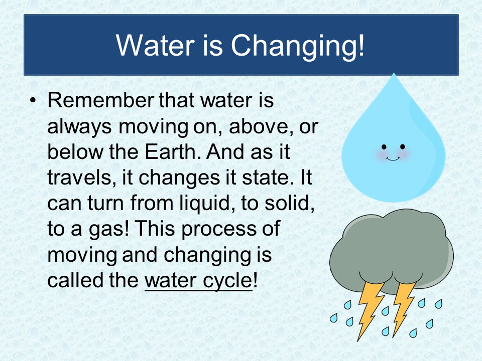 Water is Changing!
