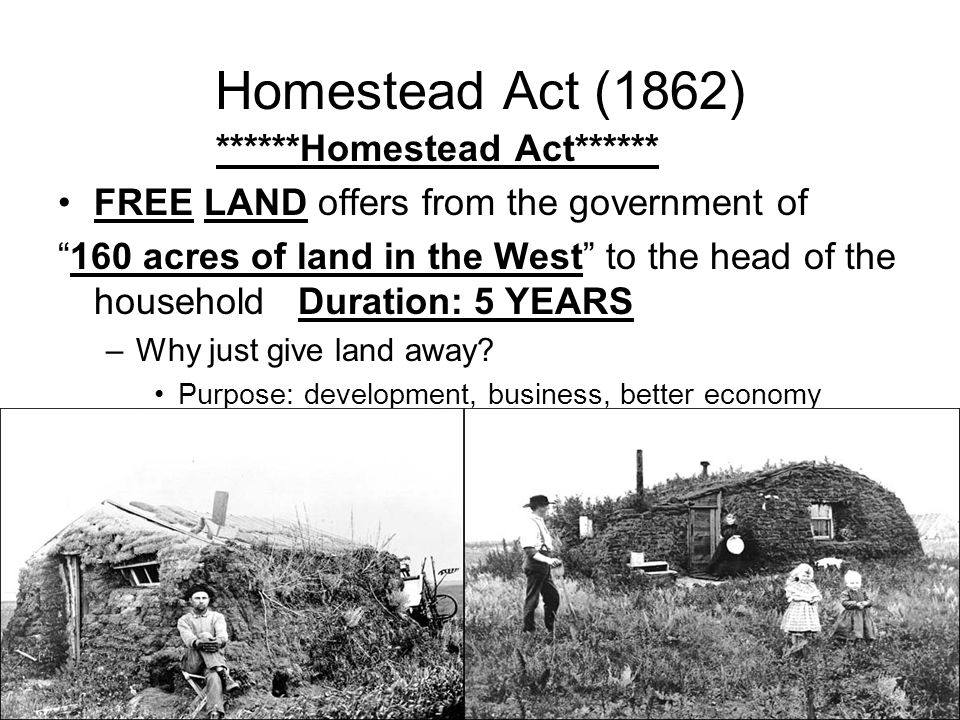 Goal 4 part 1 changes on the western front indian wars for Kansas homestead act