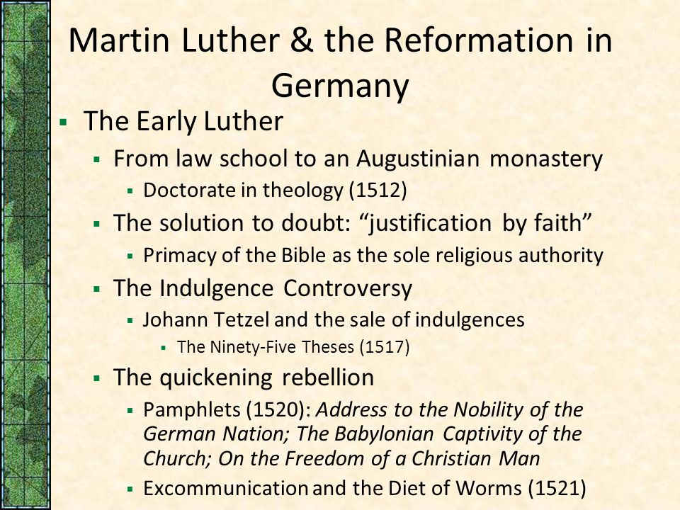 martin luther the life of a religious man Timeline of the life and works of martin luther  luther, martin luther, martin home timeline  rome distracted from luther: 1520-21: freedom of a christian, .