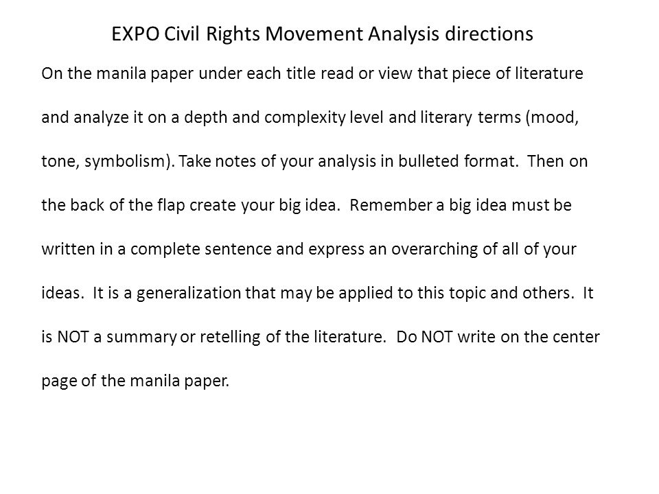 An Essay On English Language Essay On A Brief Note On The Civil Rights Movement Essay Outline The American  Civil Healthy Eating Essays also English Essay Internet Essay On A Brief Note On The Civil Rights Movement Homework Example  English Essay Questions