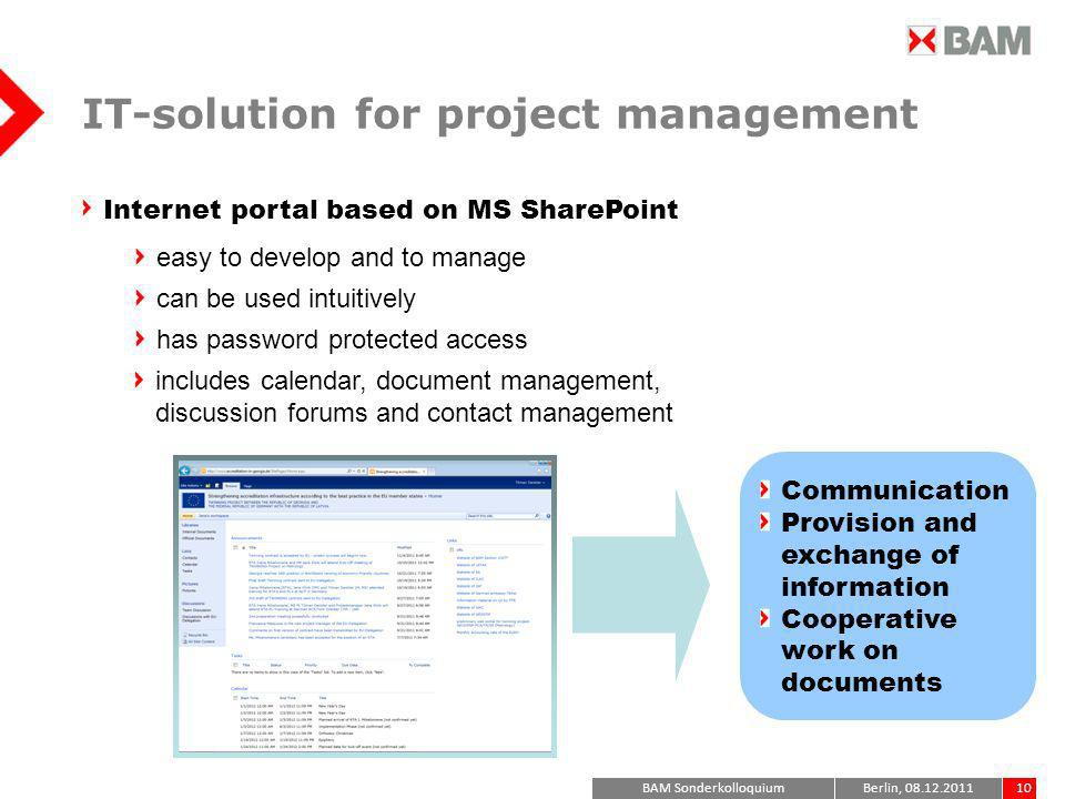 IT-solution for project management