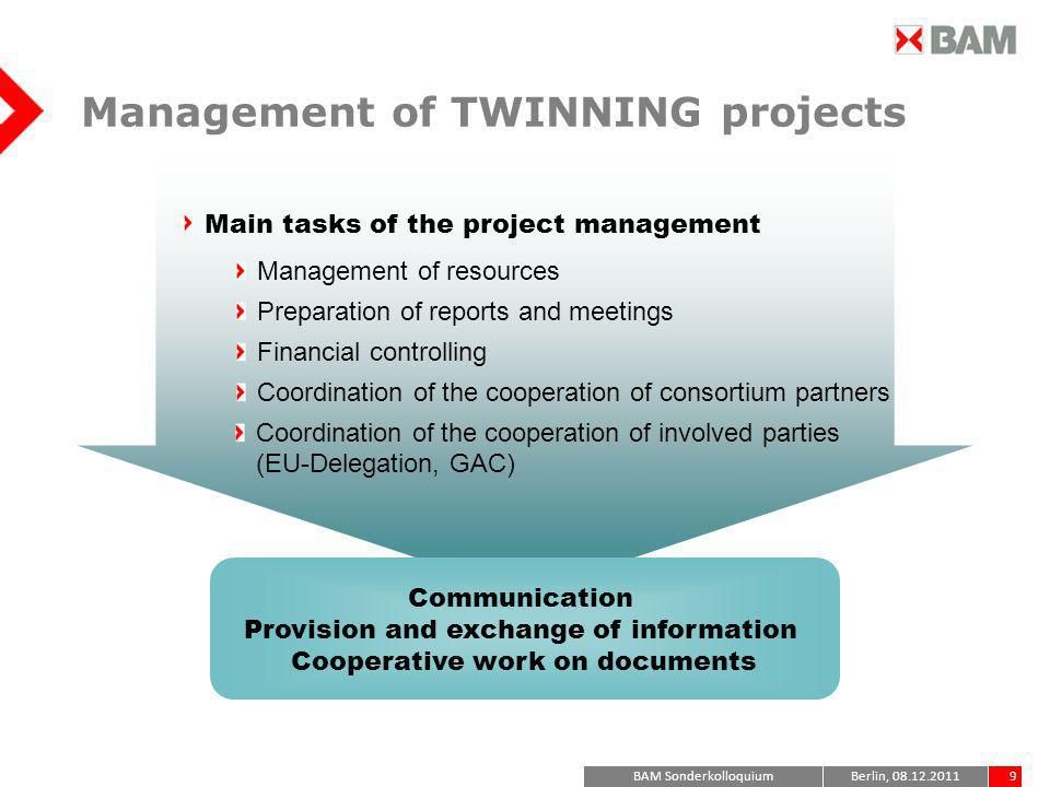 Management of TWINNING projects