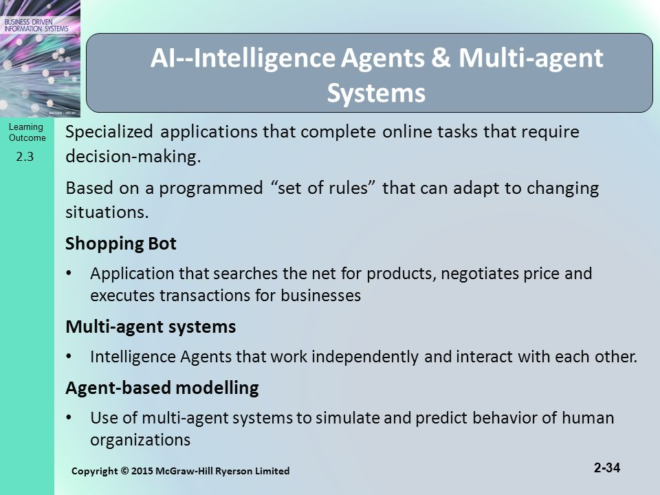 Real time business intelligence in agent oriented