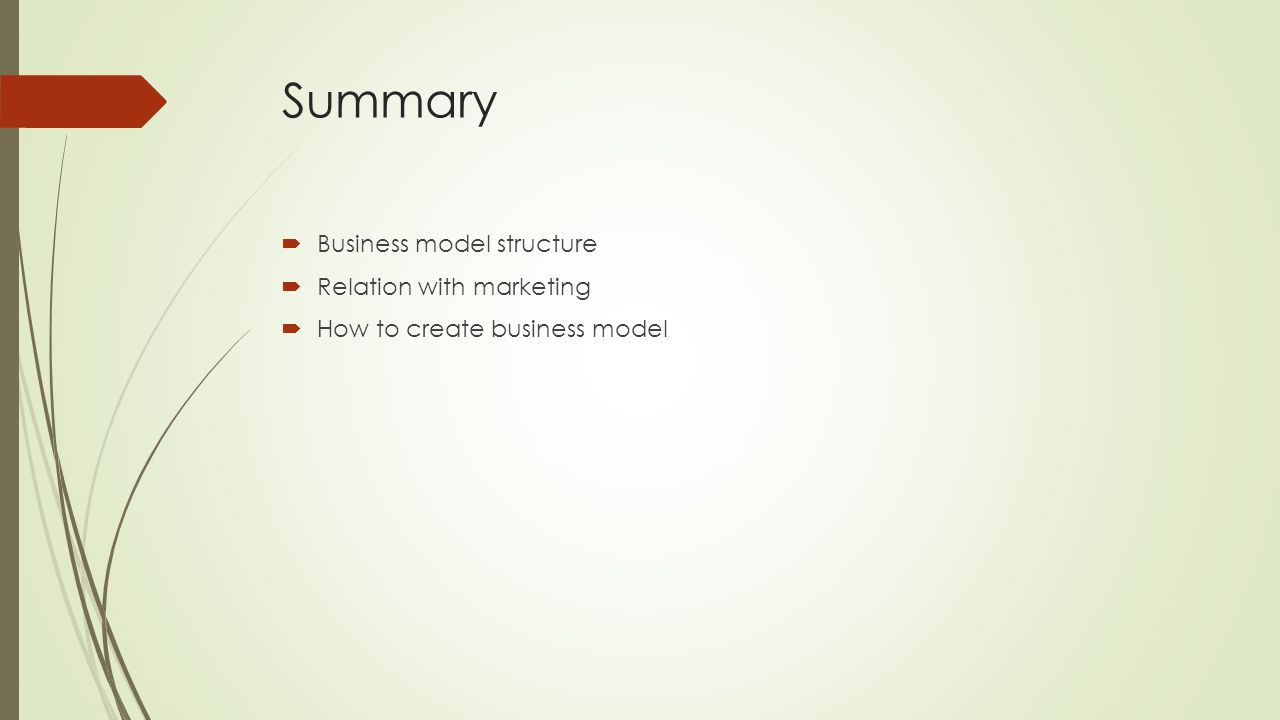 what is business model summary Sample business plan outline title page name of company, date, contact information, etc table of contents executive summary business concept company.