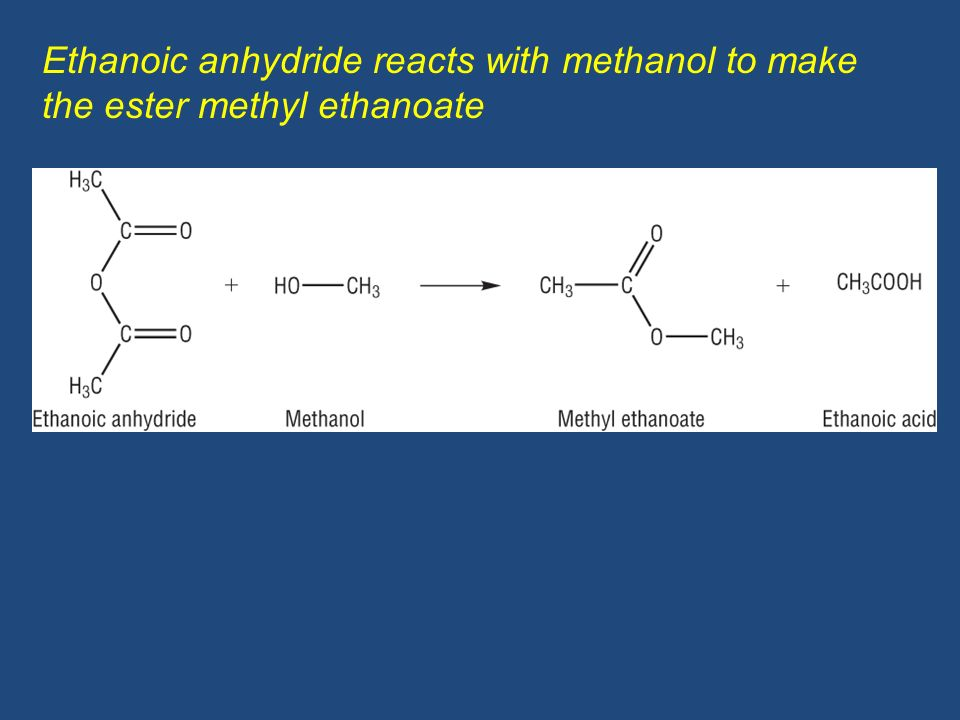 Formation of the ester ethyl propanoate from a carboxylic acid ...
