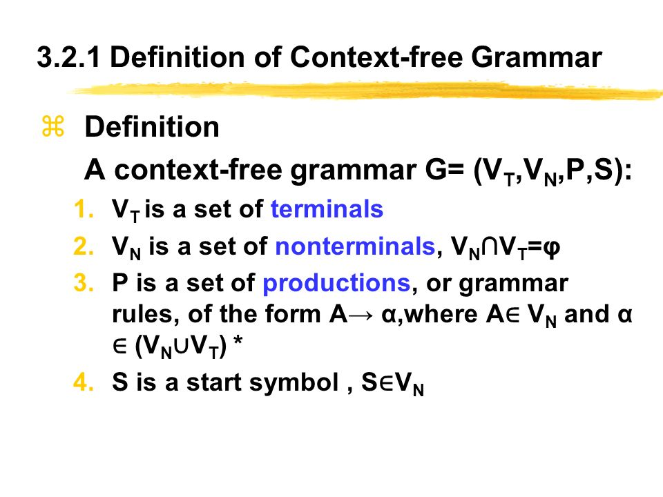 Chapter 3 context free grammars and parsing ppt video for Rule of three meaning