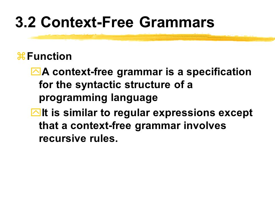 Chapter 3 Context Free Grammars And Parsing Ppt Download