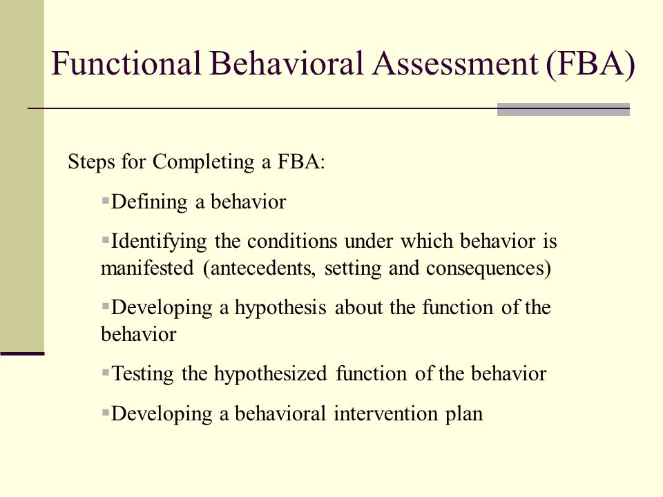 Hypothesis Statement For A Functional Behavioral Assessment Template