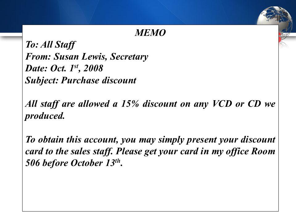 accounting memo rewritten