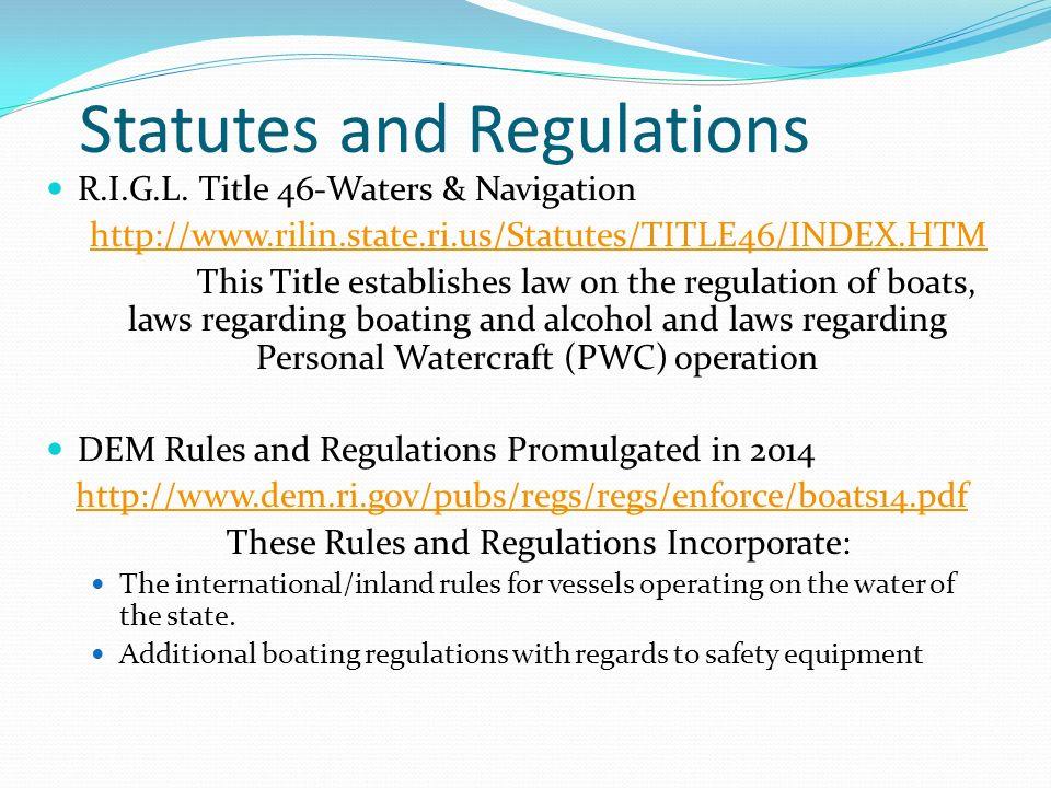navigation rules and regulations handbook pdf