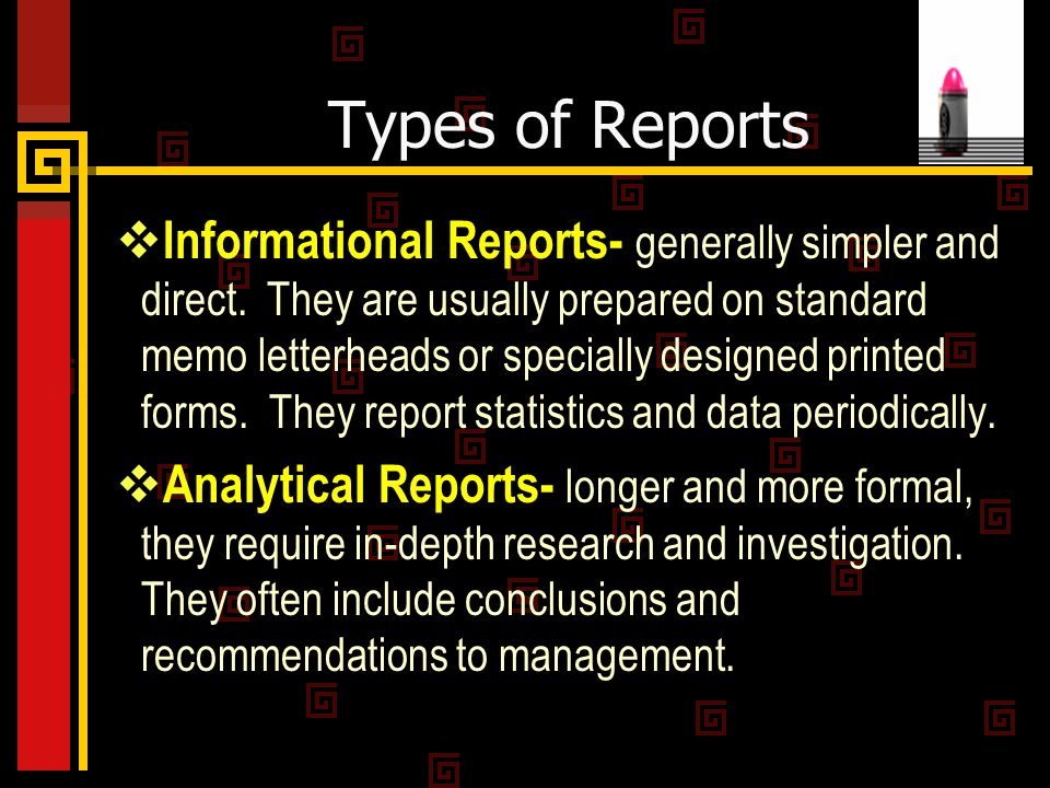 Type a report online