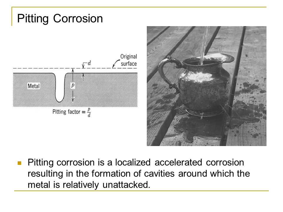 how to avoid pitting corrosion