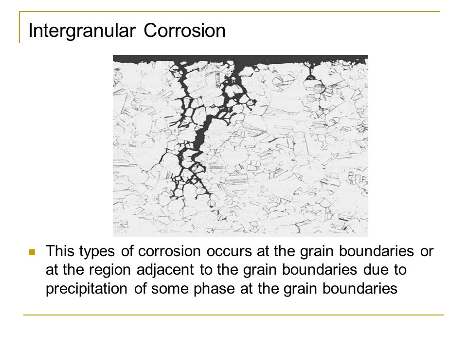 how to detect intergranular corrosion