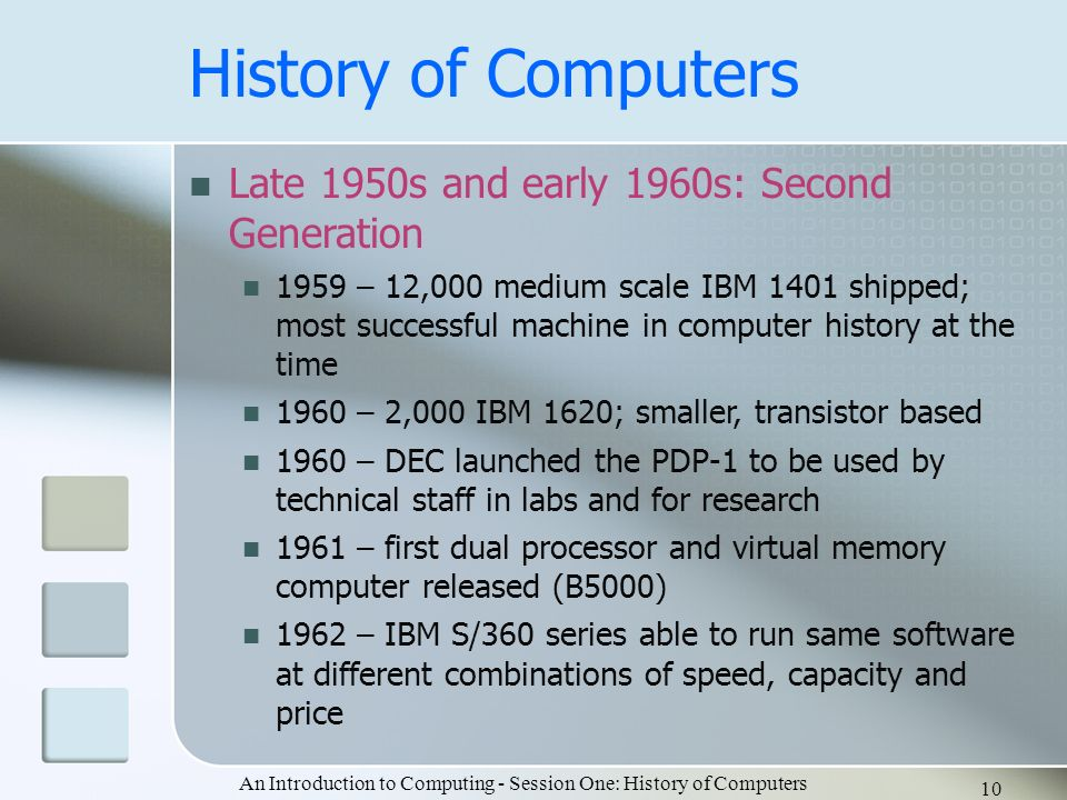 an introduction to the history of ibm A brief computer history  in 1953 the international business machine (ibm) 650 and 700 series computers made their mark in the computer world.
