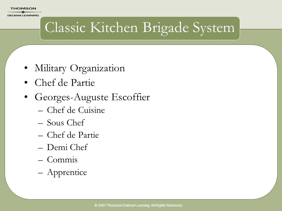 new kitchen brigade system Kitchen xcyyxh