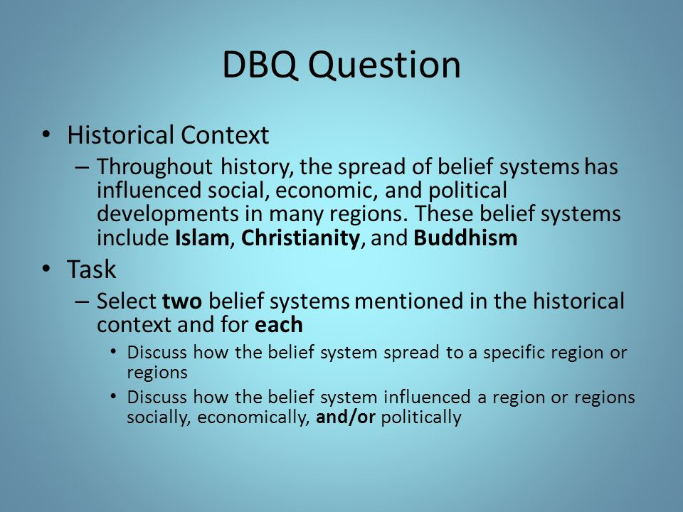 thesis statement for belief systems