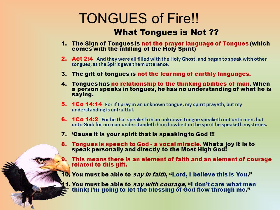 TONGUES of Fire!! Various Kinds of Tongues - ppt video ...