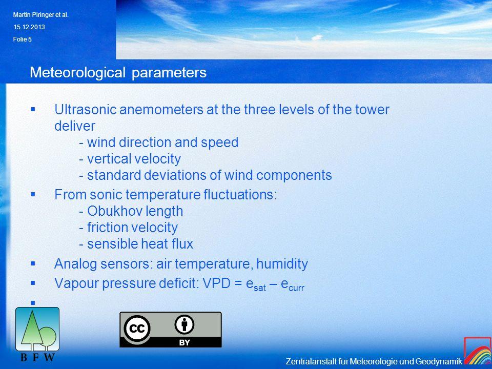 Meteorological parameters